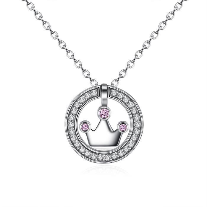 MERRILL Argent 925-1000 Collier Swarovski Elements Cristal Pendentif Collier avec Chaîne pour femme CN052