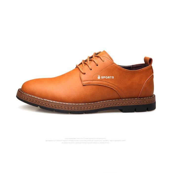 chaussure Chaussures de Homme mode Cuir Confortable FXG Hommes JOZSI XZ194Jaune39 ville xYfpawqBp