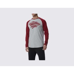 ASICS Tee shirt manches longues Homme Onitsuka Tiger - Gris et rouge