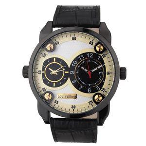 MONTRE LOUIS VILLIERS Montre Quartz AG373602 Bracelet Cui