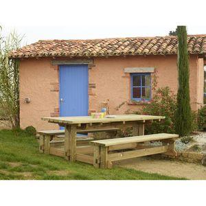 Table de Jardin Bois FORESTIERE - Achat / Vente table de ...