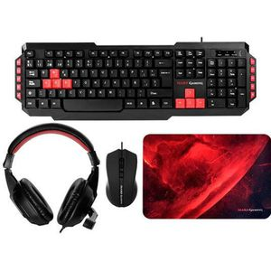 PACK CLAVIER - SOURIS Pack Keyboard-mouse-pad-headset Mars Gaming Mrcp1