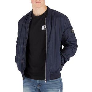 Homme Klein Calvin Aviateur Blouson Jeans Matelassé Bleu SUxxn7qw