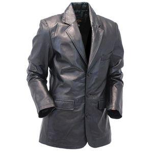 grand choix de 2d837 48ad8 Veste cuir agneau homme - Achat / Vente pas cher