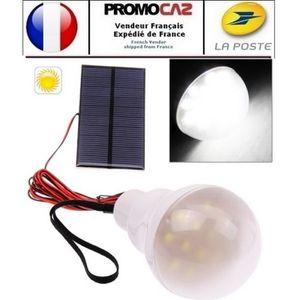 LAMPE - LANTERNE Kit Ampoule LED avec panneau solaire (pour exterie