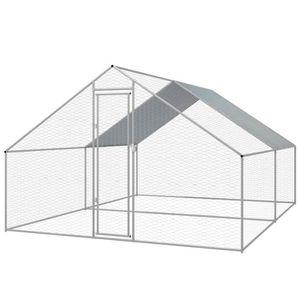 POULAILLER Economique Cage extérieure pour poulets Acier galv