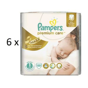 COUCHE 528 COUCHES PAMPERS PREMIUM CARE taille 1