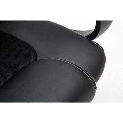 Fauteuil chaise de bureau confortable hauteur rglable en PU noir