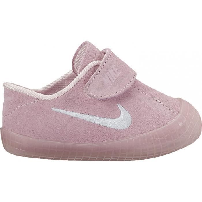74273993f89e NIKE Baskets Waffle 1 Chaussures Bébé Fille Rose - Achat   Vente ...