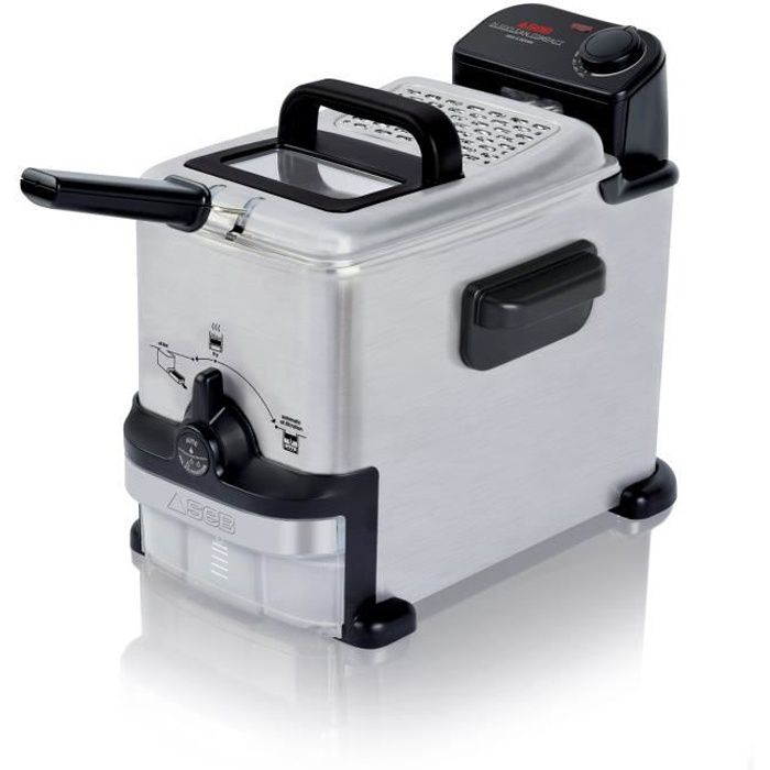 SEB FR701602 Friteuse électrique semi-professionnelle OleoClean Compact - Inox