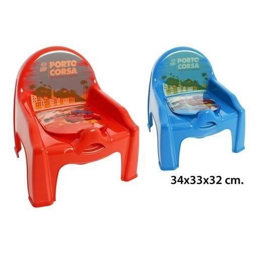 SURCOUCHE Chaise Petit Pot De Chambre Enfant Bebe Cars Rouge