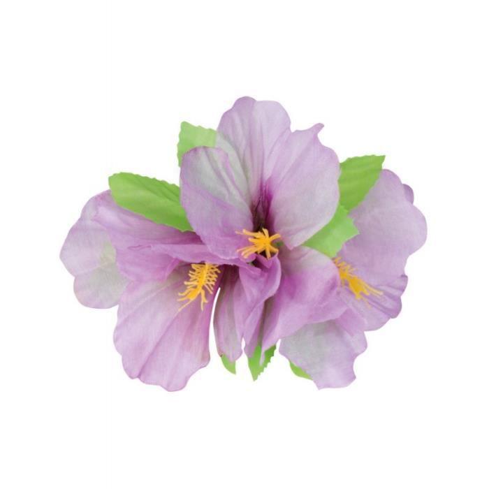 epingle à cheveux fleur hawaienne violet - achat / vente