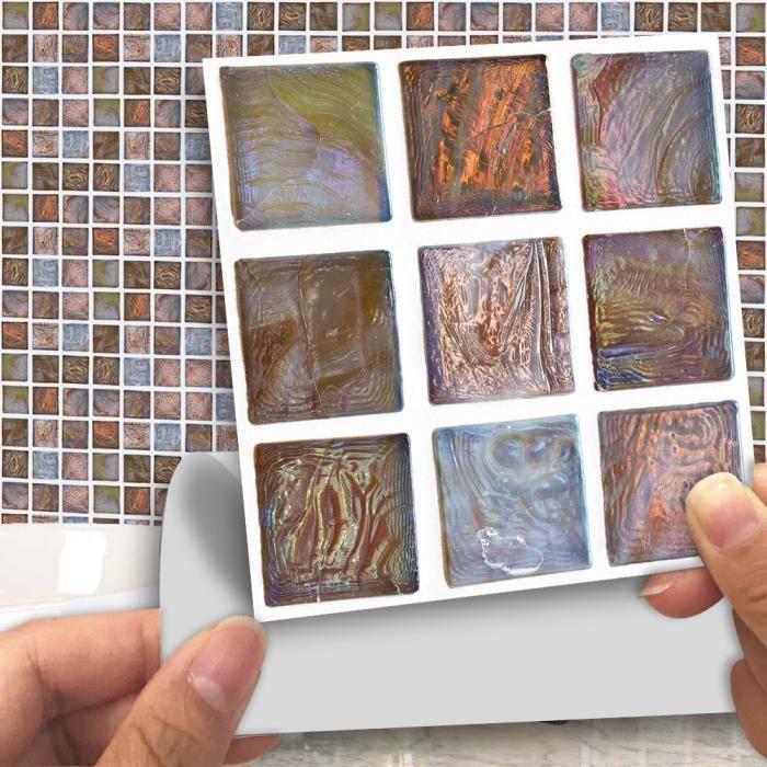 love@ sticker mural multi 18pcs Carrelage mosaïque bricolage transfert  Cuisine Salle de bain Divers Couleurs B Multicolore