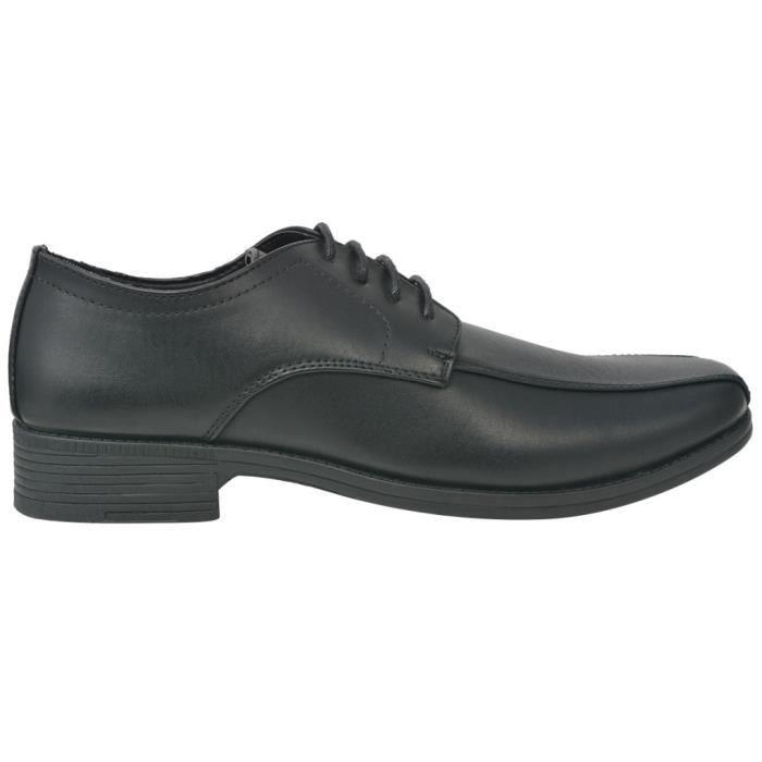 25feb7cbd03f4 Chaussures Chaussures a lacets pour hommes Noir Pointure 43 Cuir PU ...
