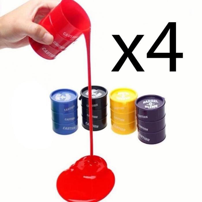 lot 4 pots de p te gluante type flubber pate slim 4x 135g couleurs al atoire achat vente. Black Bedroom Furniture Sets. Home Design Ideas