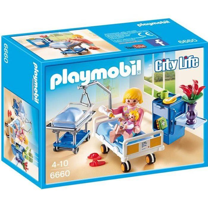 PLAYMOBIL 6660 - City Life - Chambre de Maternité - Achat / Vente ...