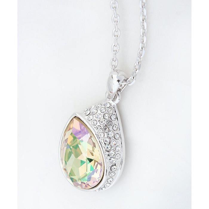 Cristaux Swarovski et Preciosa Strass Collier diamant pendentif de femmes. Tous les jours - Tenues de soirée Fashio ENI2A