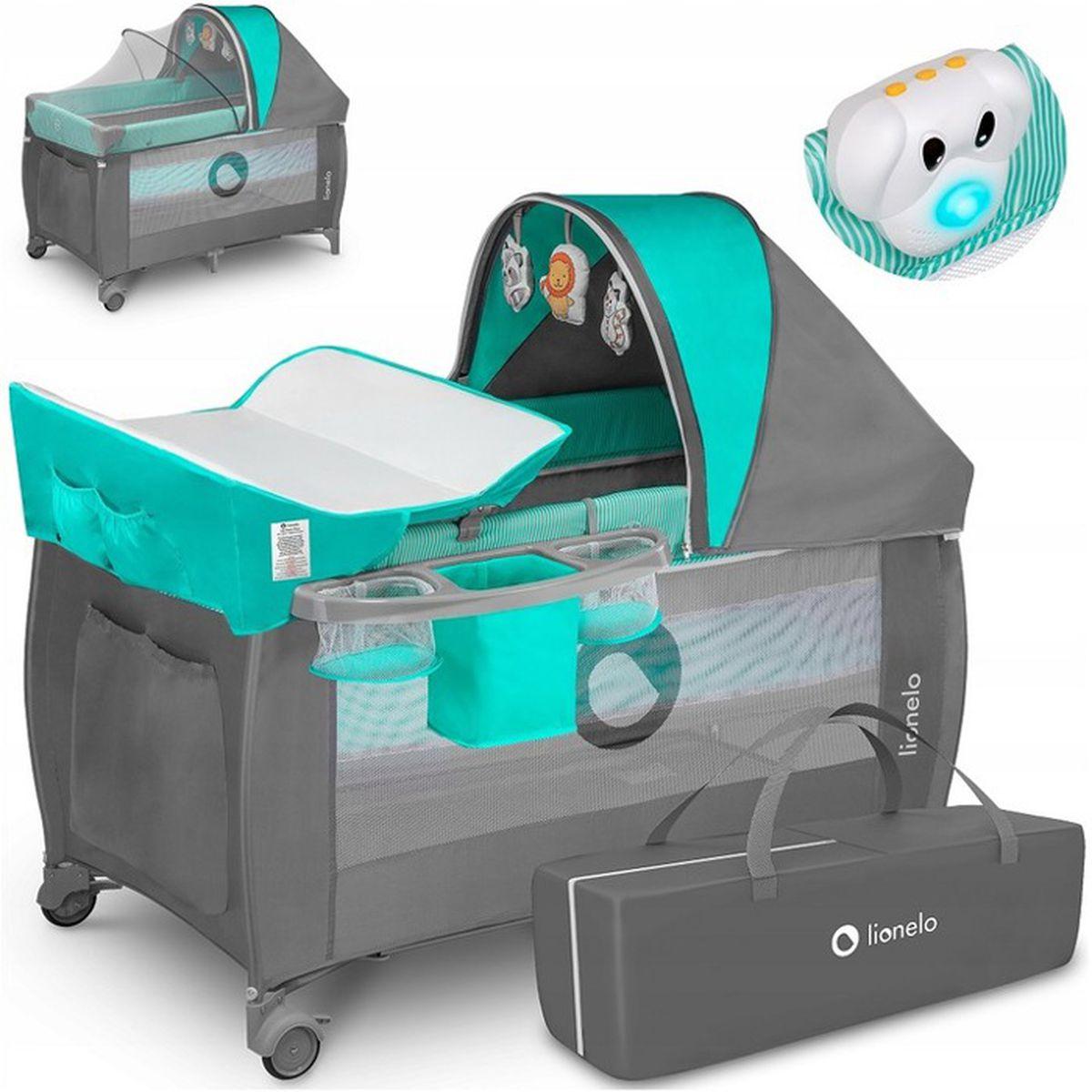 660feb17a12510 Lit parapluie bébé SVEN PLUS , avec sac de transport - 4 couleurs ...