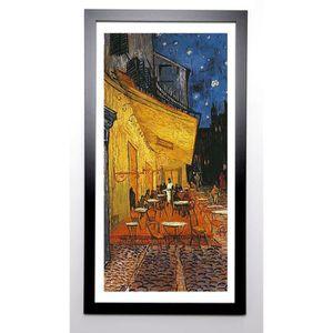 VAN GOGH Image encadrée Terrasse de Café La Nuit 57x107 cm Jaune