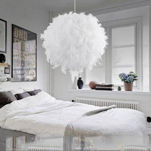 LUSTRE ET SUSPENSION 30cm Plafonnier lustre éclairage boule de plumes s