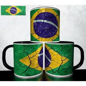 mug personnalis 4ever1 tasse caf drapeau bresil 03. Black Bedroom Furniture Sets. Home Design Ideas