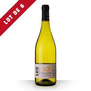 VIN BLANC 6X Uby n°3 Colombard Blanc 75cl IGP Côtes de Gasco