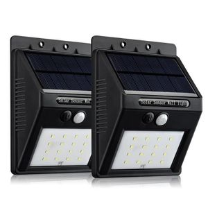LAMPE DE JARDIN  X-Century 2 Pack 16 LED Lampe Solaire Extérieure/E