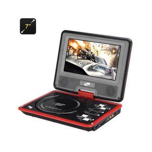 LECTEUR DVD PORTABLE Lecteur DVD portable 7 pouces large écran couleur