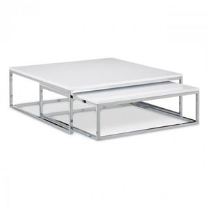 Table basse gigogne metal achat vente table basse Table basse gigogne blanche