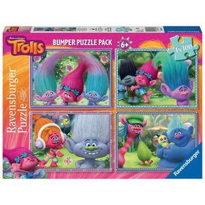 PUZZLE Trolls Bumper Pack, Puzzles 4x 100pièces (Ravens