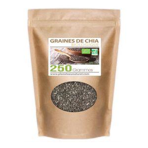 CÉRÉALES - MÉLANGES Graines de Chia Bio 250 gr
