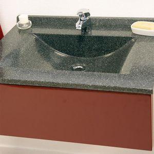 PLAN VASQUE Plan simple vasque noir granité 70 cm ANDERNOS