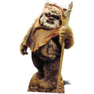 OBJET DÉCORATIF Figurine en carton taille réelle Ewok Star Wars -