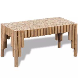TABLE BASSE Table basse en bois de bambou table de café à salo