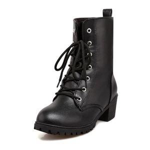 BOTTINE Bottine Automne Hiver Chaussure Boots Femme Lacet