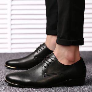 Bottes pour Hommemarron 8.5 Britannique de style Chaussures bout pointu en cuir Mode homme d'affaires Casual_37746 jvXwGw