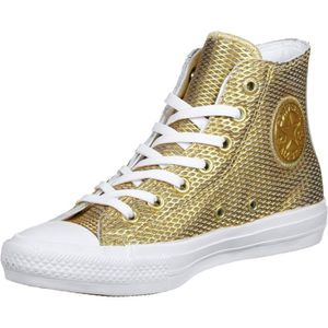BASKET Converse Chuck Taylor All Star Hi Gold-white-white