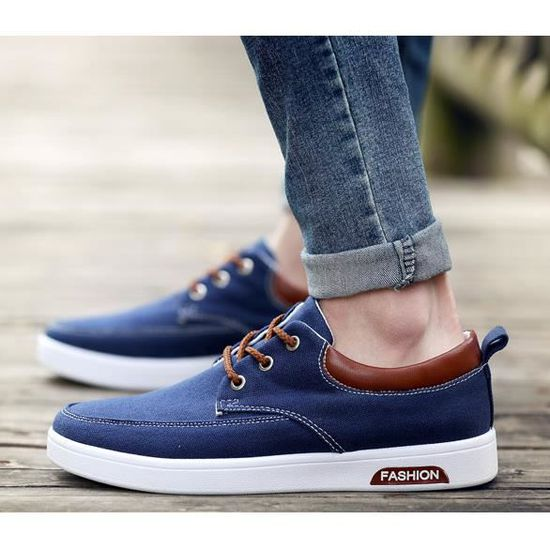 ec64bee2a98 Mode Chaussure Homme Basket Homme Skate Shoes ... blue - Achat   Vente  espadrille - Cdiscount