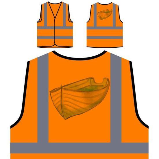 À Orange Funny New j'aime Haute Personnalisée De Visibilité Bateau Naviguer Le Protection Captain Veste SwqZpxIq