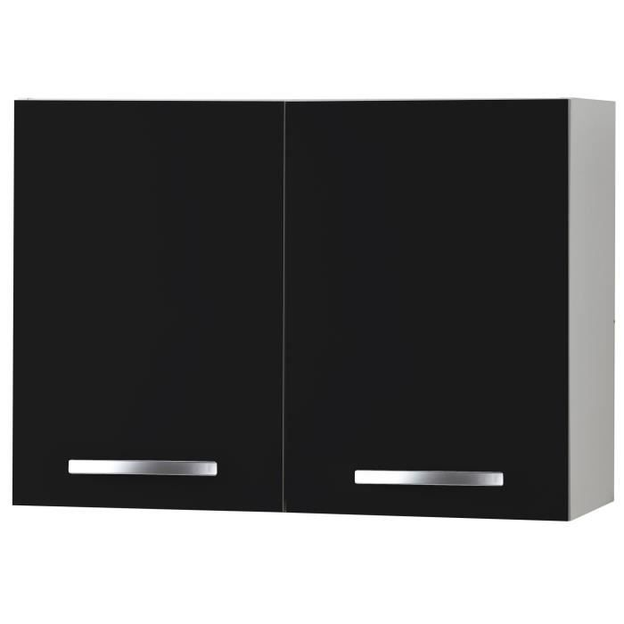 meuble haut cuisine noir achat vente meuble haut cuisine noir pas cher cdiscount. Black Bedroom Furniture Sets. Home Design Ideas