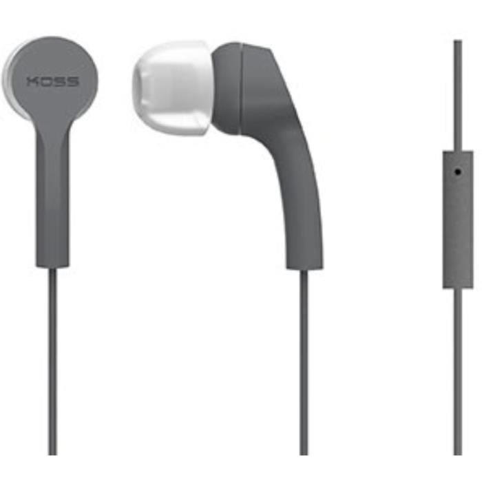 KOSS Casque intra auriculaires stéréo KEB/9iGRY - Gris