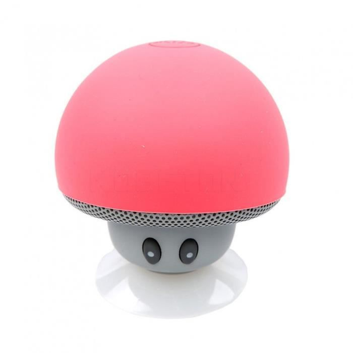 Portable Haut-parleurs Rouge Electronique Kebidu Sans Fil Mini Bluetooth Haut-parleur Champignon Étanche Stéréo
