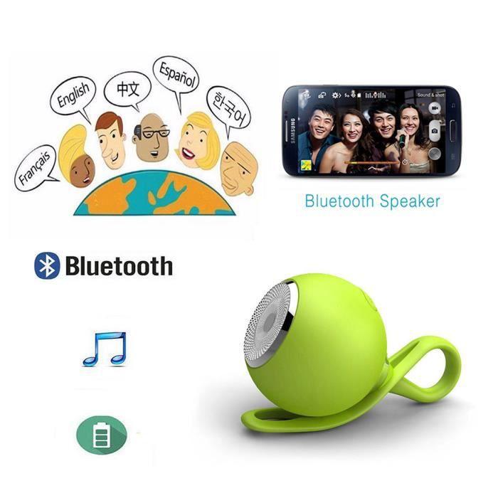 Balle Sport Portable En Forme Étanche À La Poussière Mini Parleur Sans Fil Bluetooth_mo3938