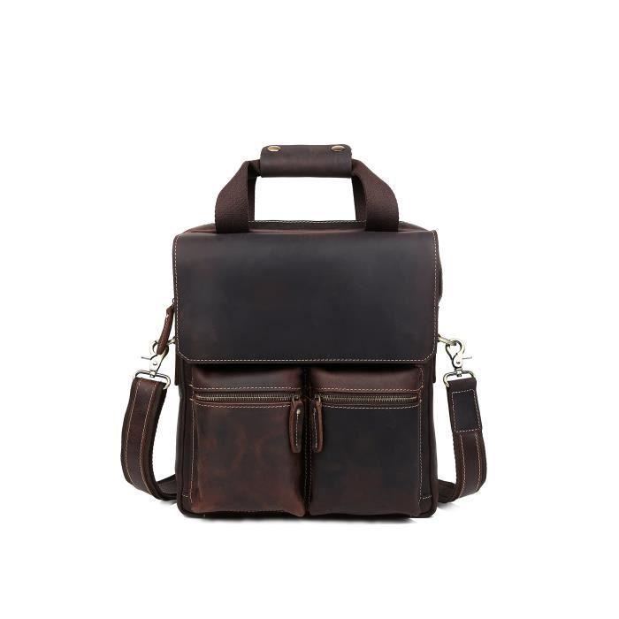 Pour Ordinateur Portable Messenger Sacs, croix en cuir vintage Toile Sac bandoulière Sacoche sac à main Fit 35,6cm pour ordinateur portable pour hommes femmes gris Gris