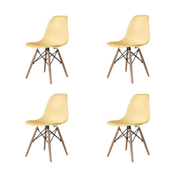 Free pack chaises tower wood couleurs vanille achat vente chaise with meuble cuisine couleur vanille - Meuble cuisine couleur vanille ...