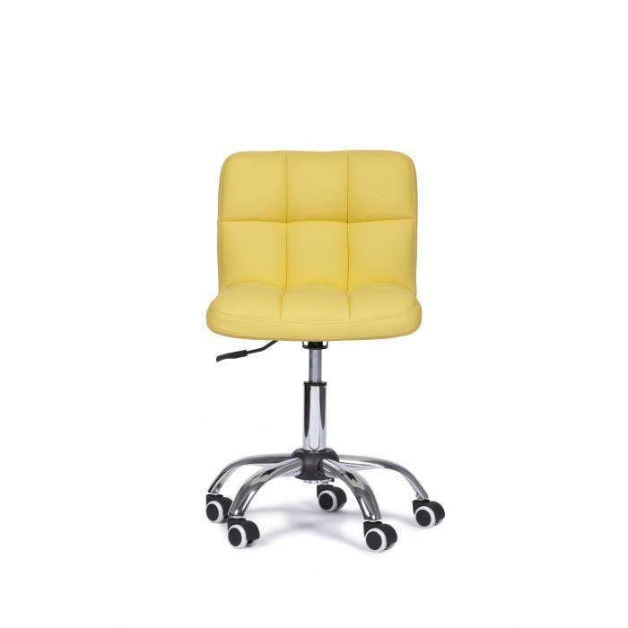 Chaise De Bureau ROYAL Jaune Design Et Reglable