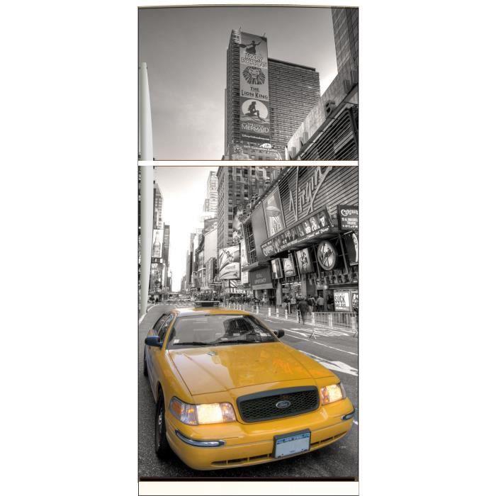 Sticker frigo déco cuisine New York Taxi jaune ... - Achat / Vente ...