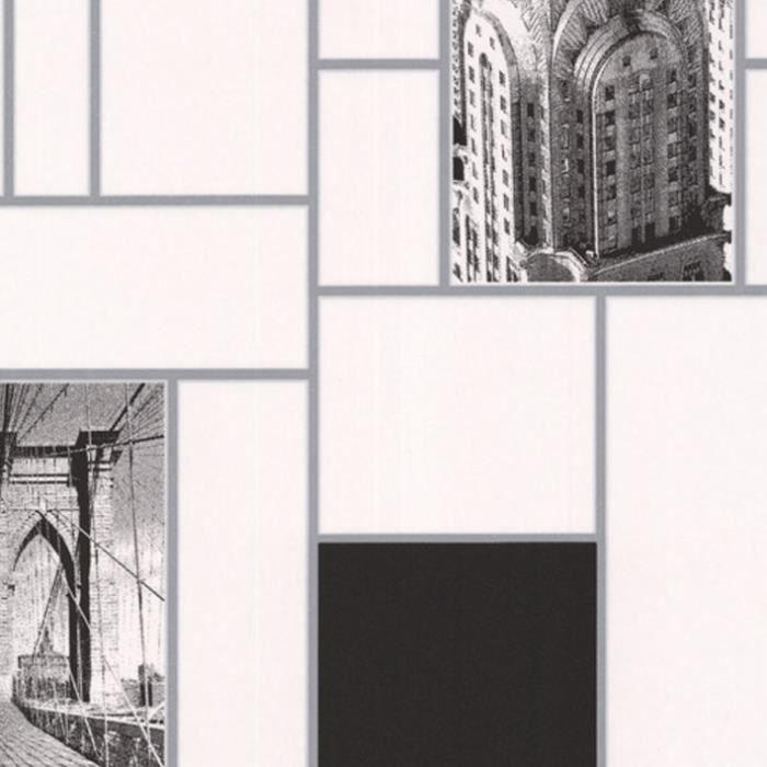 Papier Peint Cuisine Et Salle De Bain Intisse New York Noir