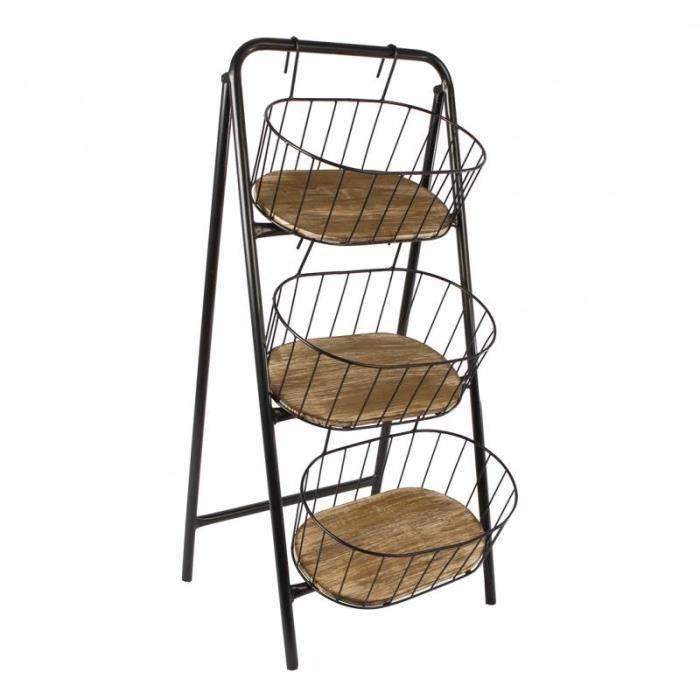 etag re sur pieds rayon en escalier rangement poser 3 pani res suspendues en fer patin noir. Black Bedroom Furniture Sets. Home Design Ideas