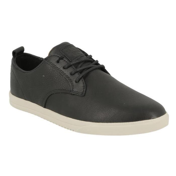 Chaussure de ville sport Clae Ellington en cuir noir.